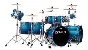 Bateria Custom Shop Blue Sparkle Fade