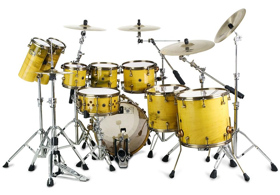 Custom-Shop Gold Imbuia | Odery Custom Drums