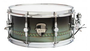 "Caixa Custom Shop 13 x 06"" Black Top Fade & Inlay"