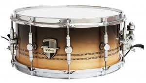 "Caixa Custom Shop 14 x 6,5"" Brown Fade & Double Inlay"