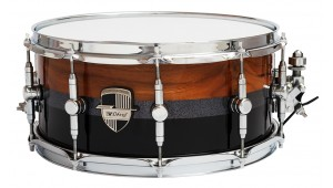 "Caixa Custom Shop 14 x 6,5"" Piano Black & Natural Lines"