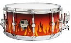 Custom-Shop 14 x 6.5 Flames Snare