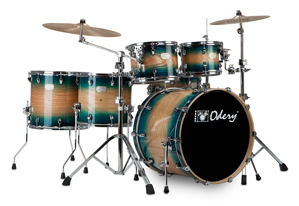 Blue Burst 2 Toms 2 Floor Toms Odery Custom Drums